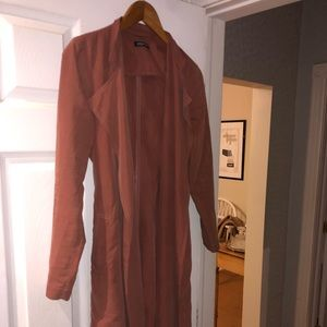 Pink Suede American Apparel Trench Coat